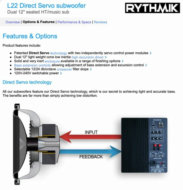 "Rythmik L22 Dual 12"" Driver HT/music Direct Servo subwoofer 20150310"