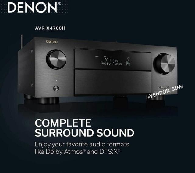 Denon AVR-X4700H 9.2 Ch. 8K AV Receiver 20316410