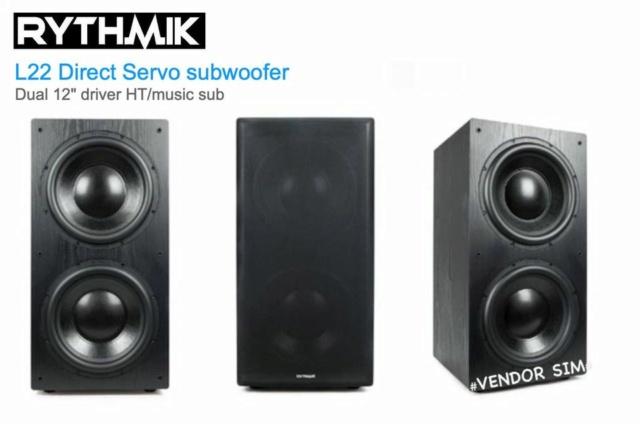 "Rythmik L22 Dual 12"" Driver HT/music Direct Servo subwoofer 20365610"