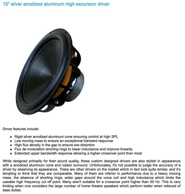 "Rythmik FV15HP 15"" Ported Audiophile with 600WRMS Subwoofer 20678810"