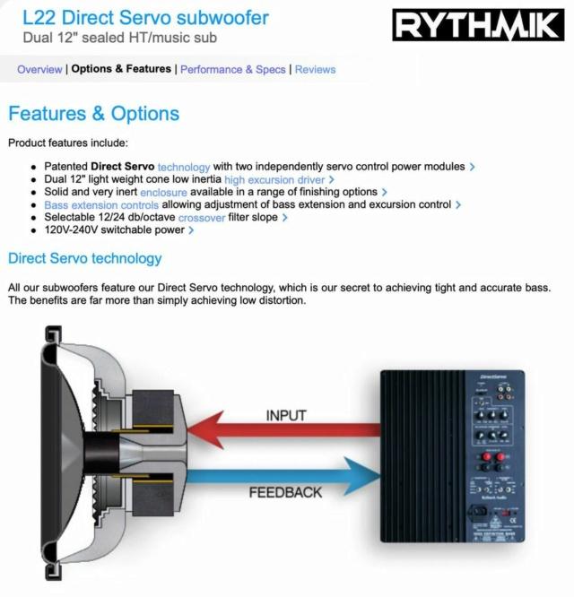 "Rythmik L22 Dual 12"" Driver HT/music Direct Servo subwoofer 312"