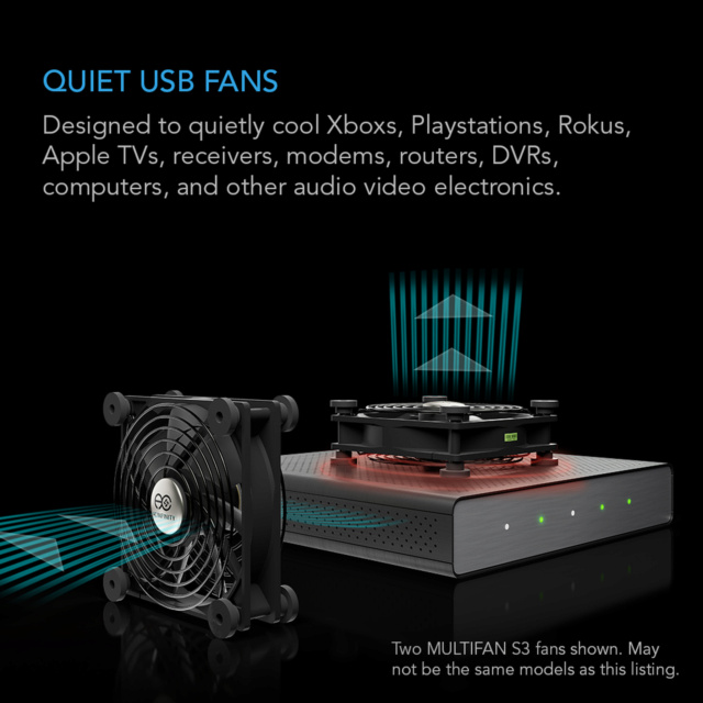AC INFINITY MULTIFAN Series Quiet USB Coling Fan System Storep19