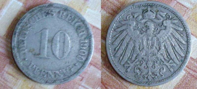 10 pfennig (1900 d.C) - Deutches Reich 10pfen10