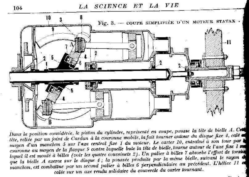 """Moteur Statax (moteur """"à barillet"""") Moteur10"""