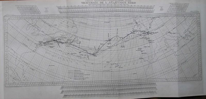 Carte de la route de Costes et Bellontes sur l'Atlantique Nav_co10