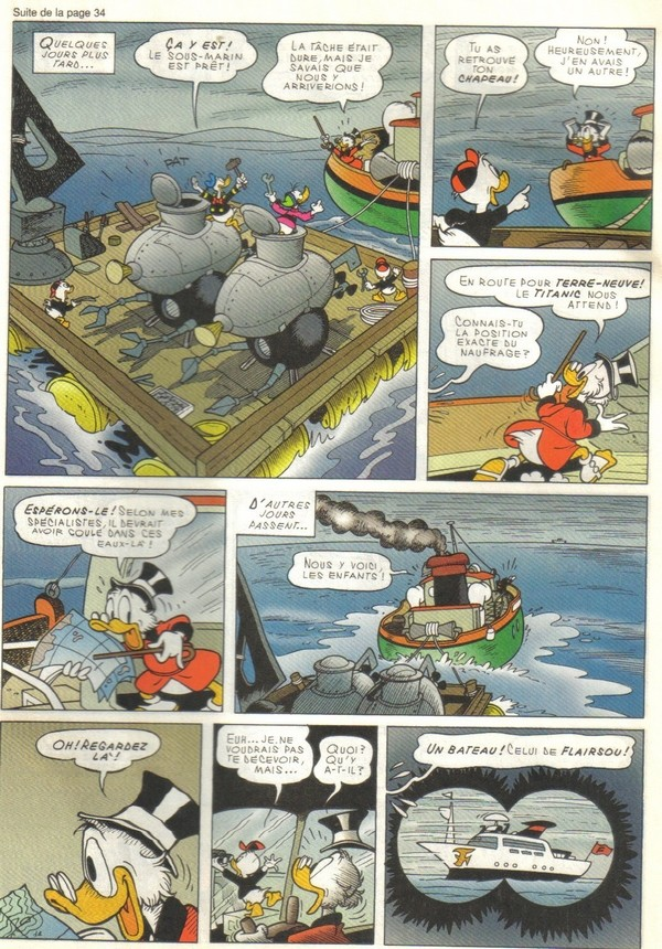 Le journal de Mickey spécial Titanic Picsou24