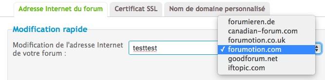 Changement d'URL bloqué par certificat SSL Domain11