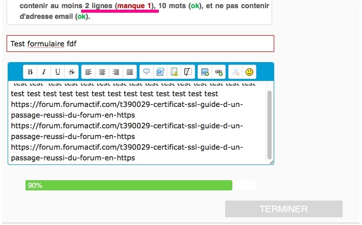 Le certificat SSL ne peut pas être activé Fdf12