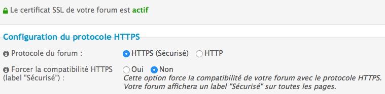 Forum passé en HTTPS Http11