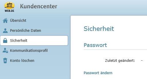 Änderung von Passwörtern für Mailbox-Accounts bei Web.de Webde11