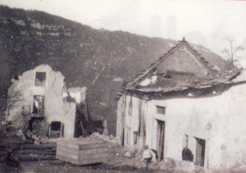 Avant-Après Malleval village martyr du Vercors Mallev10