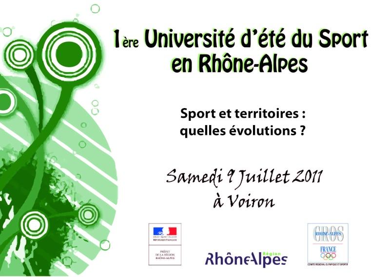 Université d'été du Sport en Rhône-Alpes - 9 Juillet 2011 à Voiron Imagep10