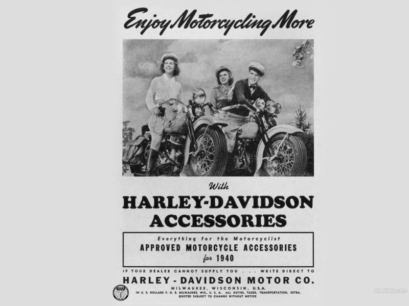 remember when sex was safe and motorcycles were dangerous ! Harley13
