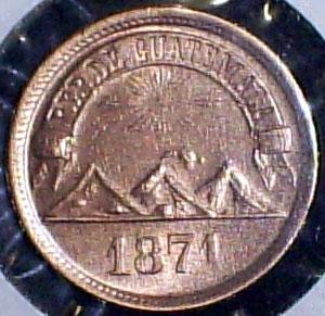 Guatemala, 1 centavo, 1871 1_cent11