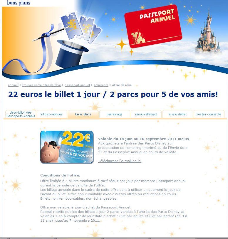 22 euros le billet 1 jour / 2 parcs pour 5 de vos amis! Captur26