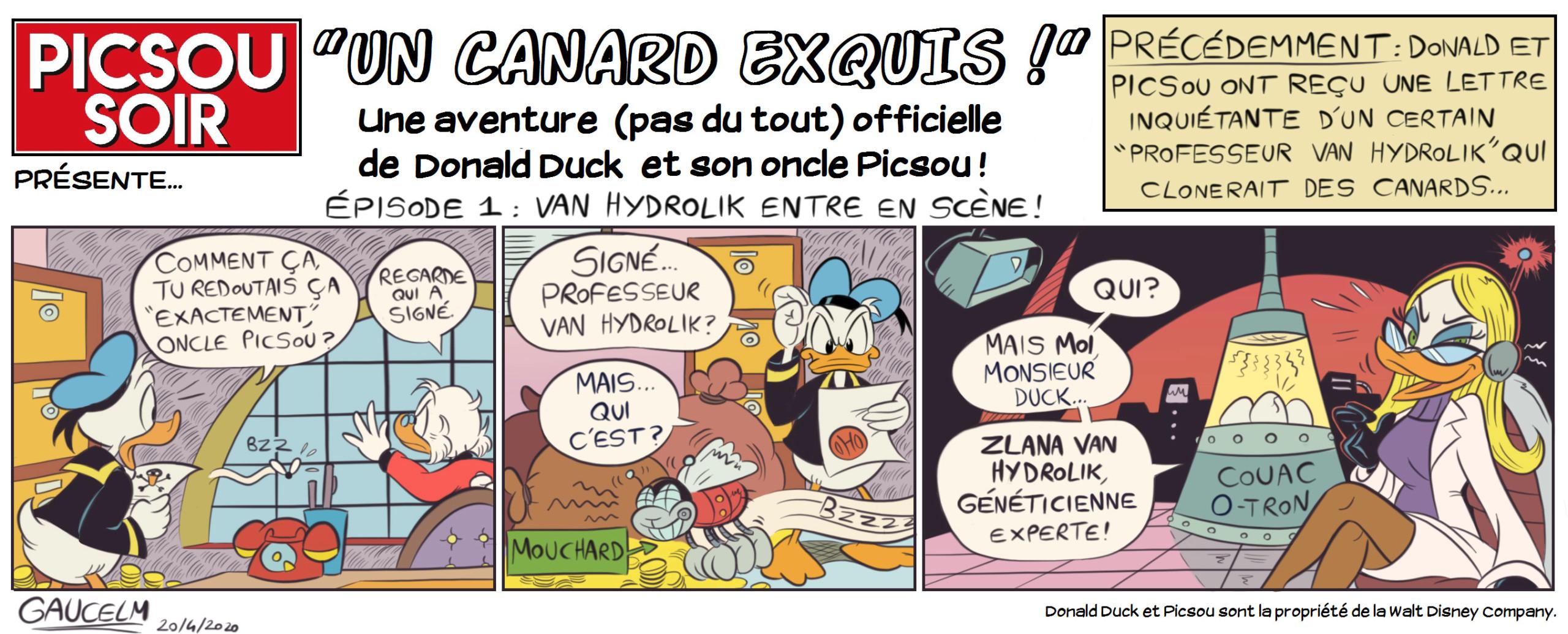 """""""Un Canard Exquis"""" : jeu collaboratif pour les artistes (avec Picsou Soir) Picsou22"""