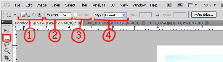 [Photoshop] Les outils de sélection Outils14