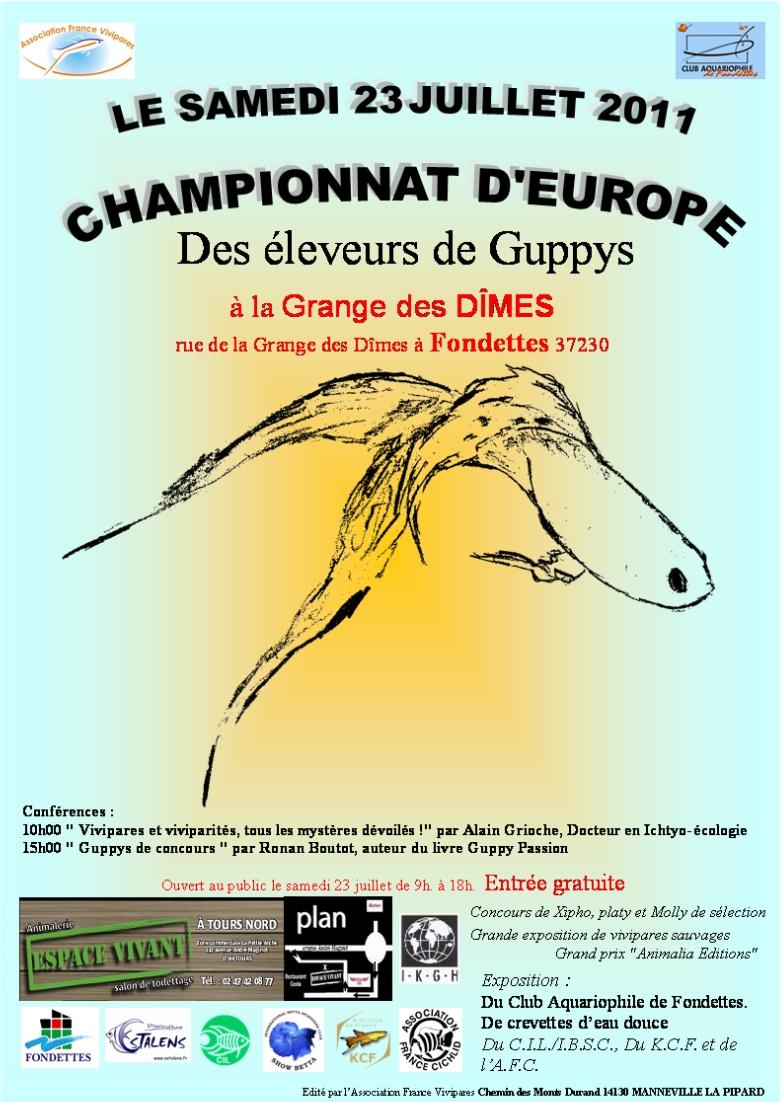 Championats D'europe de guppy Affich13