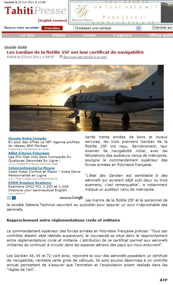 FLOTTILLE 25 F - Page 2 Tahiti10