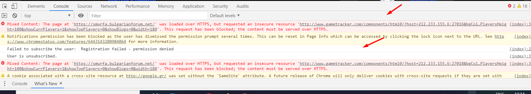 https from green turned gray. Scre1667