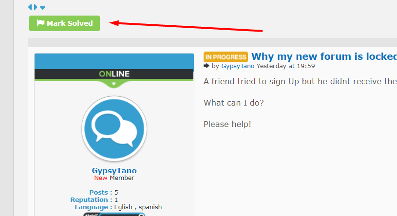Why my new forum is locked? Scre1791