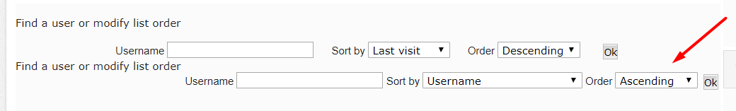 memberlist - Modifying the Memberlist Page Scree169