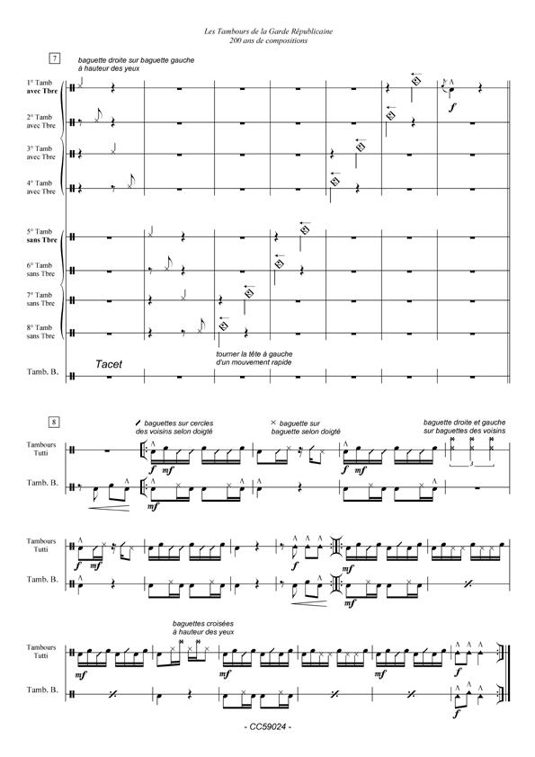 Le recueil des partitions des tambours de la garde républicaine......est arrivé.. Influx10