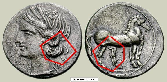 Trozo de doble shekel cartaginés Cartag11