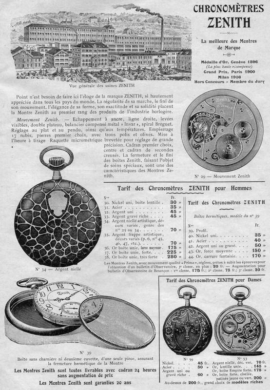 Zenith et les poilus ... Les toutes premières montres bracelets de Zenith Zenith10