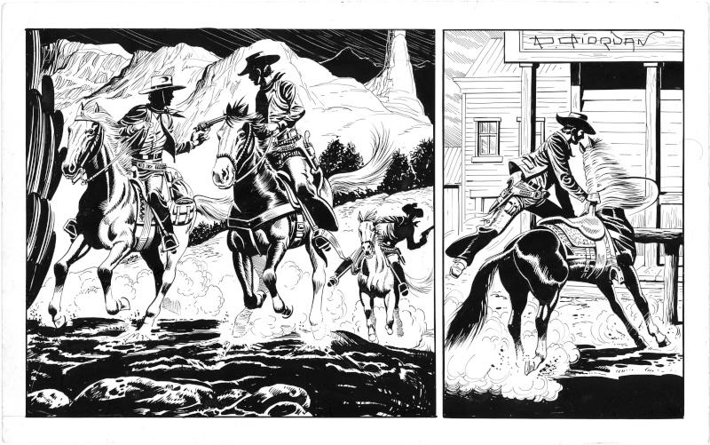 Quelques études ''Western'' de Raoul Giordan Etudes11