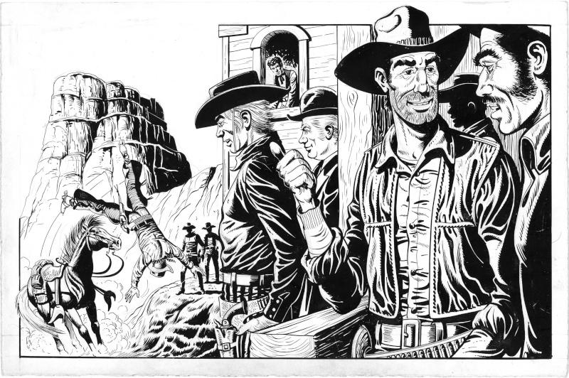 Quelques études ''Western'' de Raoul Giordan Etudes12