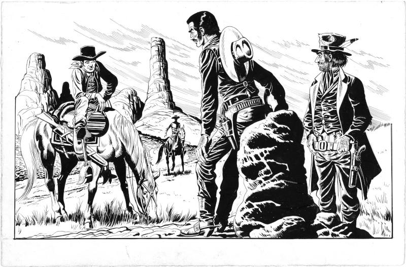 Quelques études ''Western'' de Raoul Giordan Etudes13