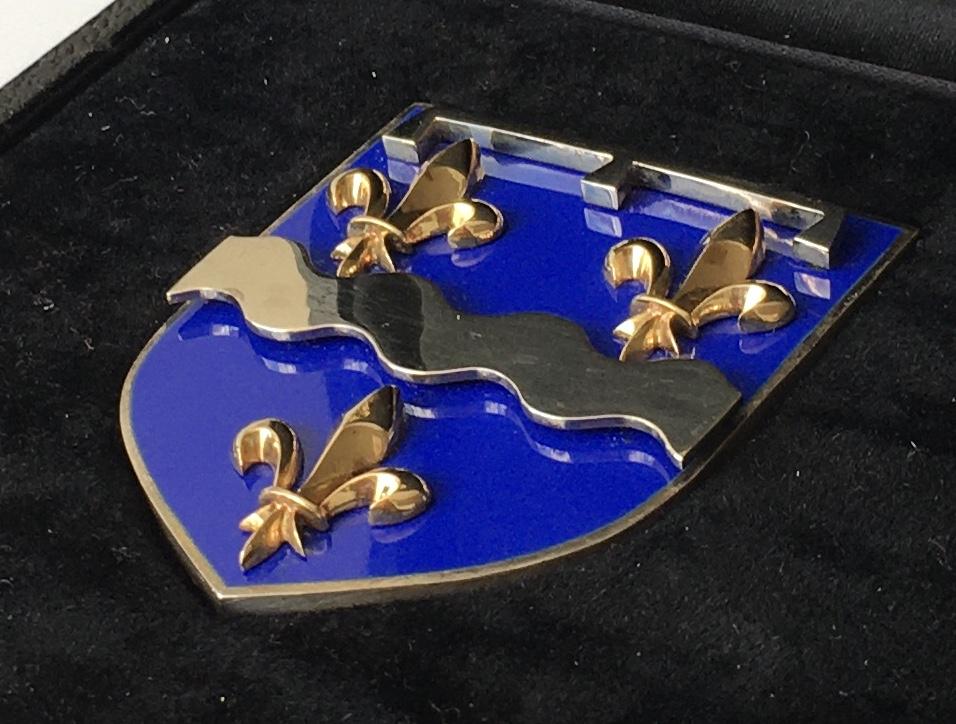 Médaille Blason de Joaillier-Fabricant en émail, ors et argent (Loiret) A13f9810