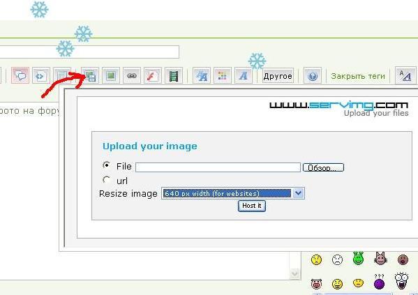 как вставить картинку на форум Screen18