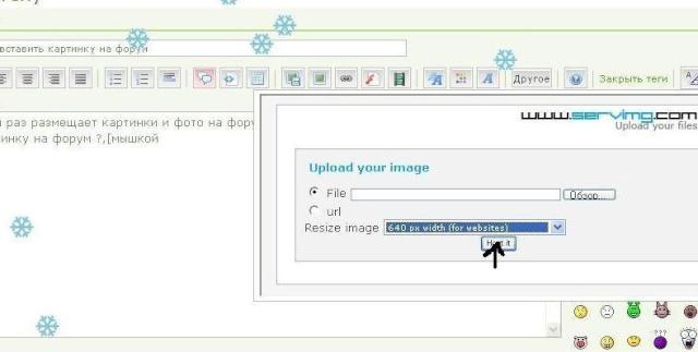 Как вставить картинку в сообщение Screen21
