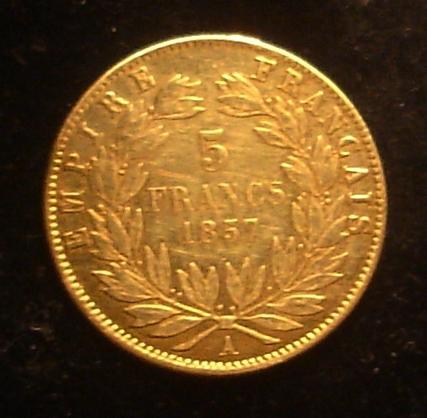 5 Francos de 1857 de Napoleón III Dsc02217