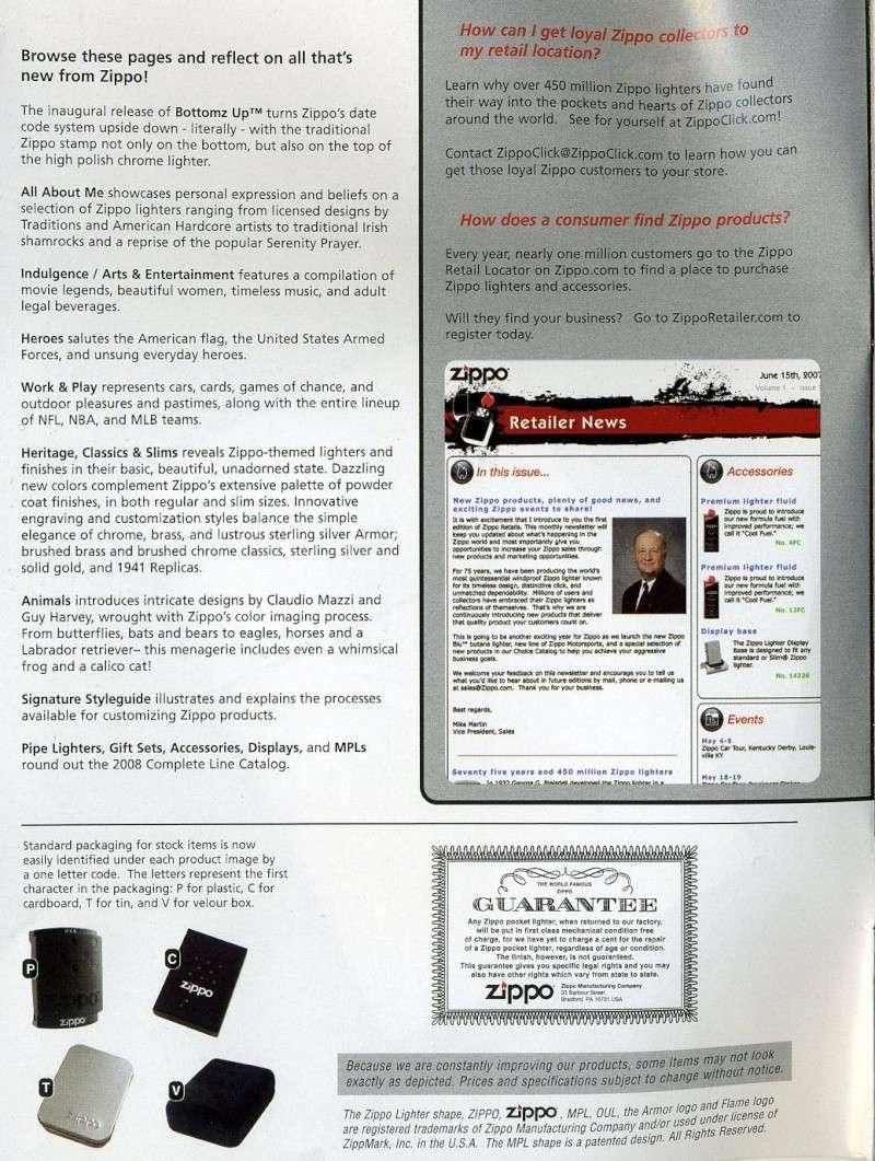 Catalogue ZIPPO 2008 Complete line (version américaine) 0011