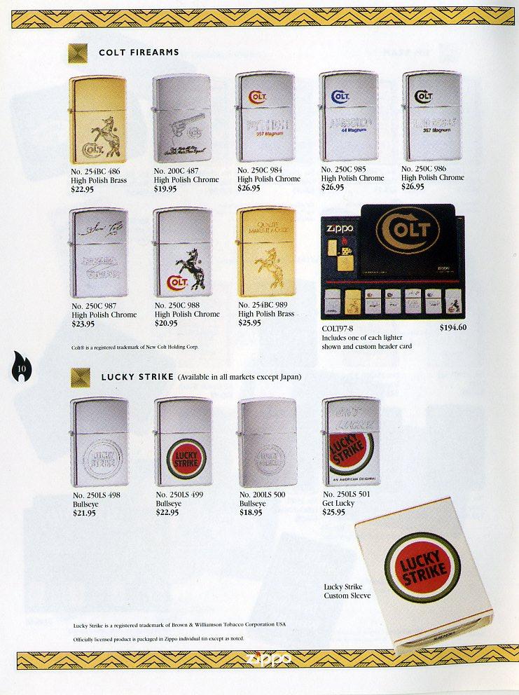 Catalogue ZIPPO Collection 1997 (version américaine) 1011