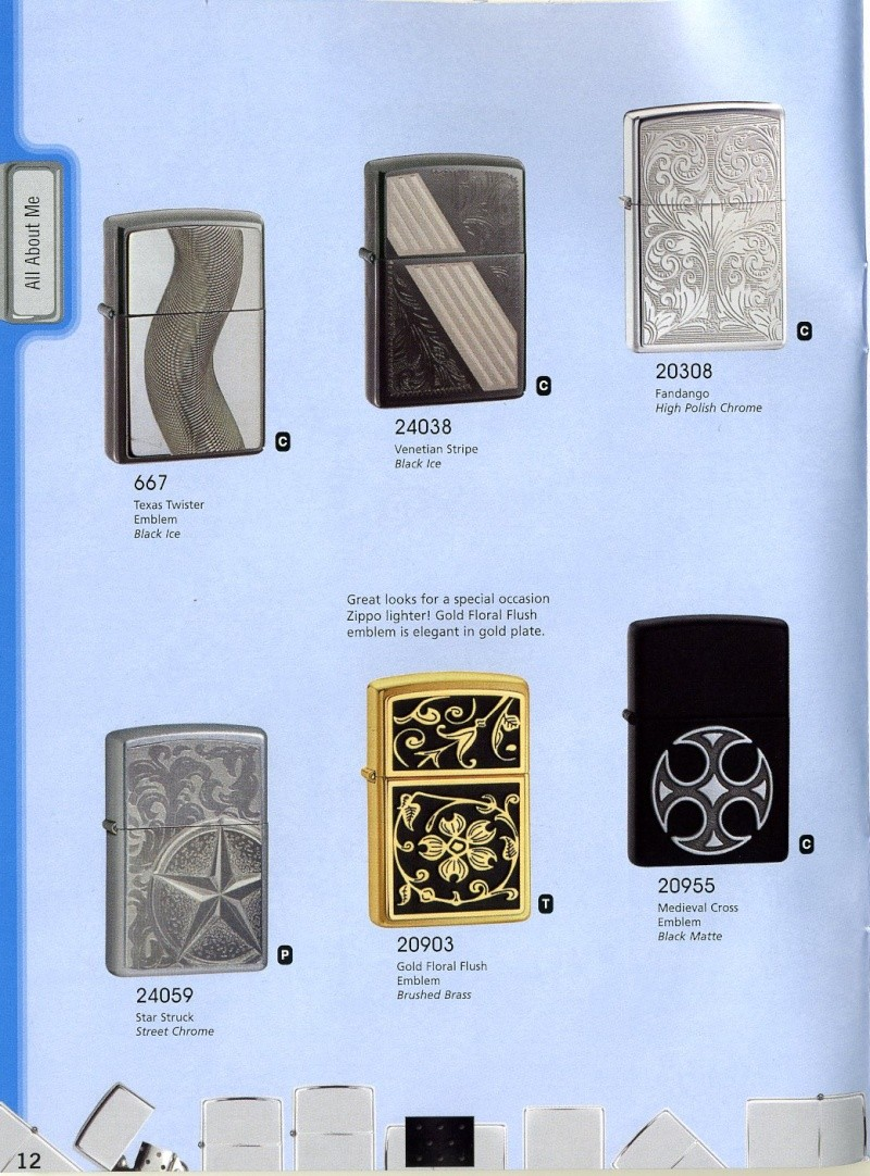 Catalogue ZIPPO 2008 Complete line (version américaine) 1210