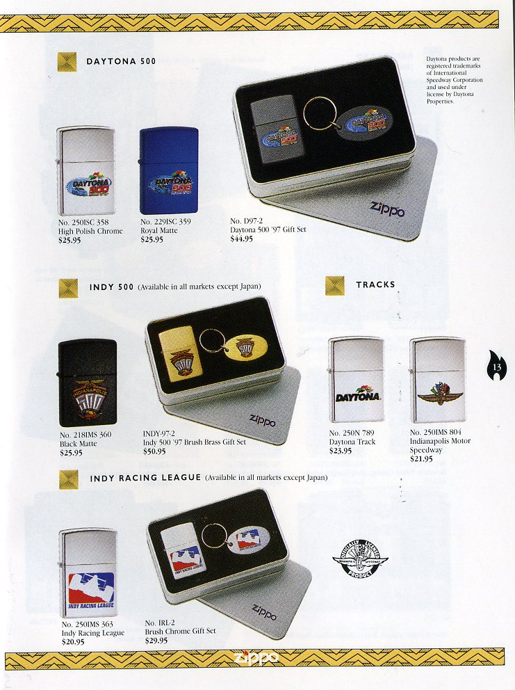 Catalogue ZIPPO Collection 1997 (version américaine) 1311