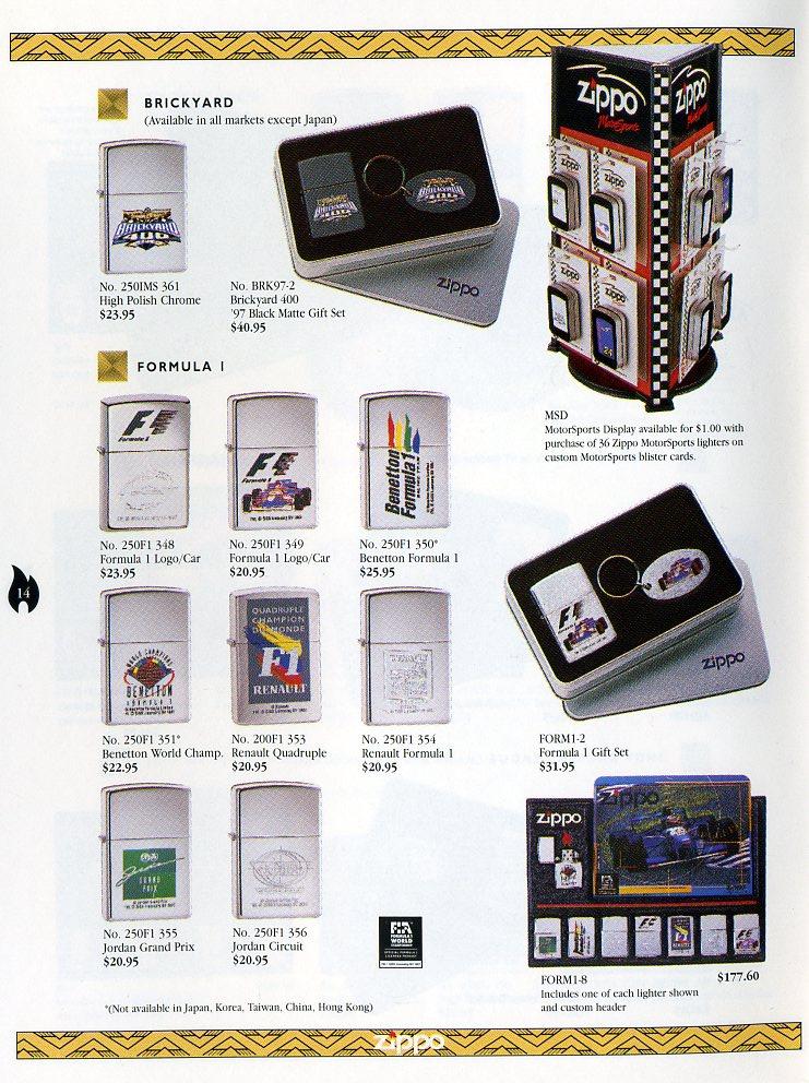 Catalogue ZIPPO Collection 1997 (version américaine) 1411