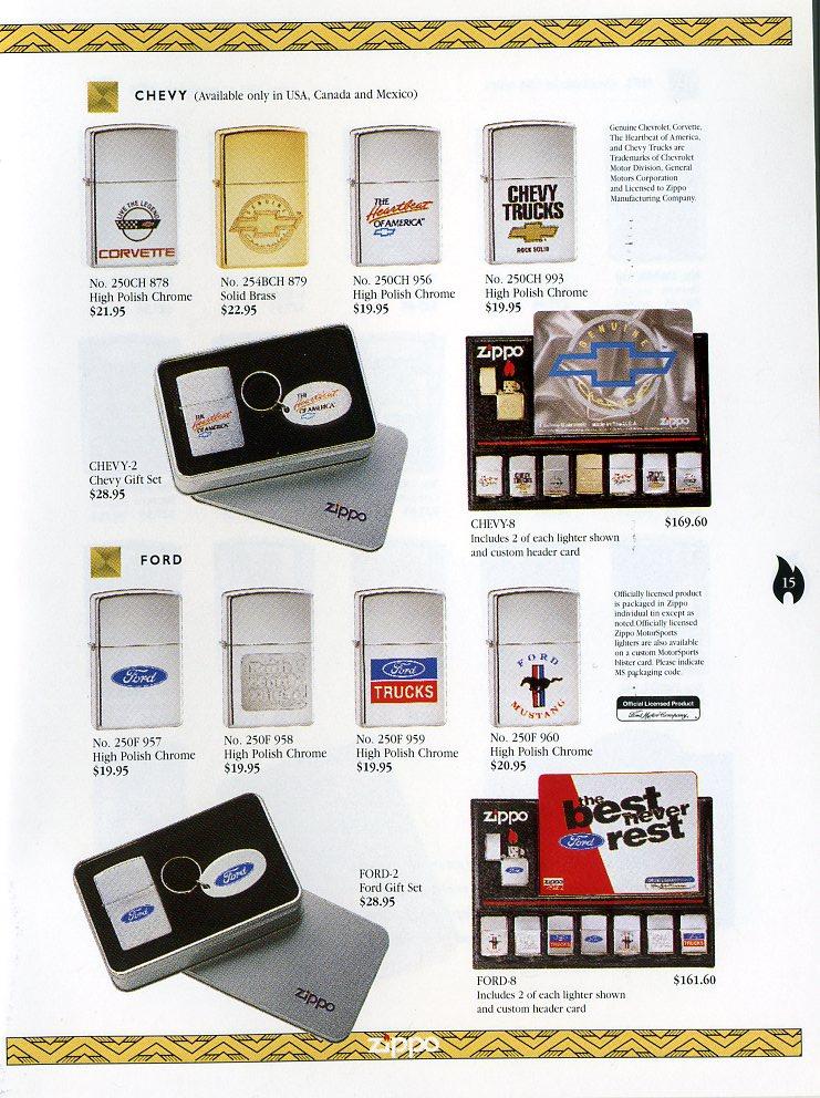 Catalogue ZIPPO Collection 1997 (version américaine) 1511