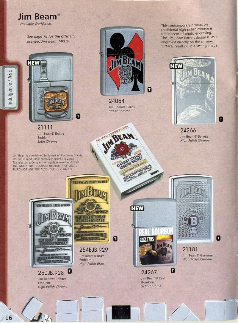 Catalogue ZIPPO 2008 Complete line (version américaine) 1610