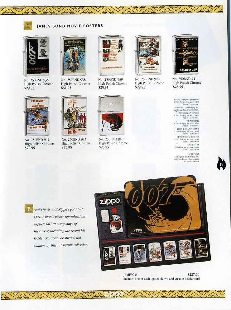 Catalogue ZIPPO Collection 1997 (version américaine) 1912