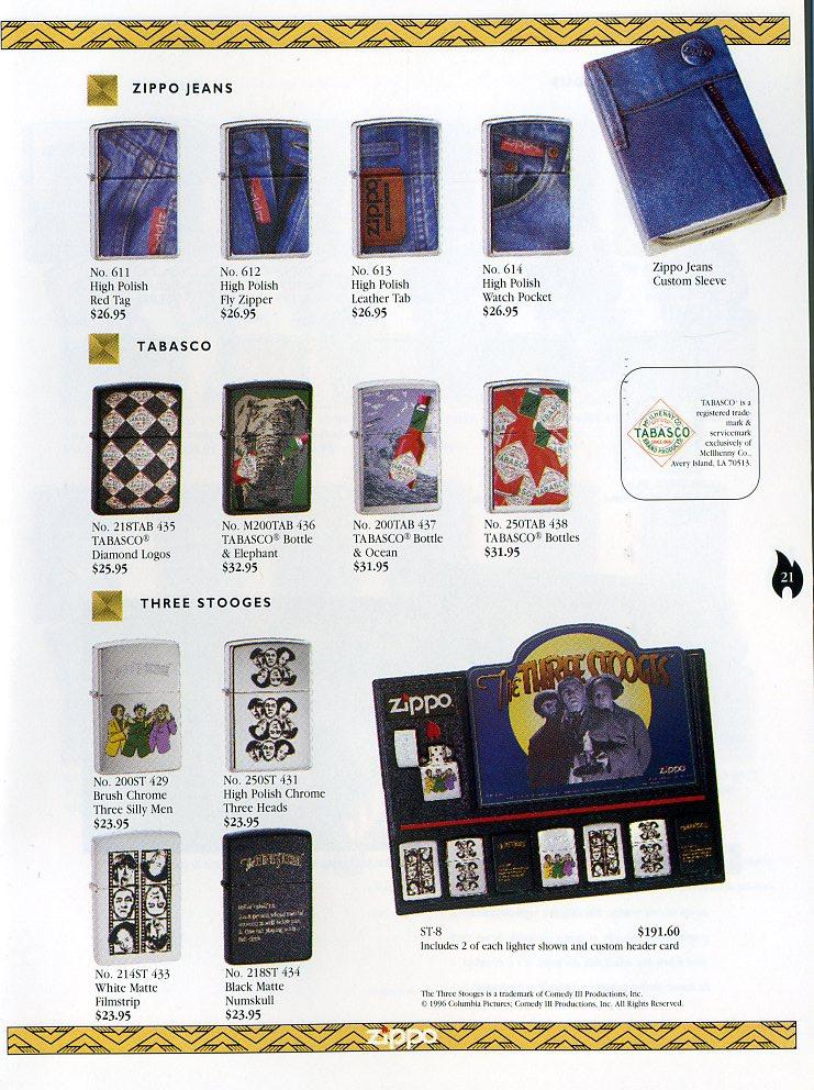 Catalogue ZIPPO Collection 1997 (version américaine) 2111