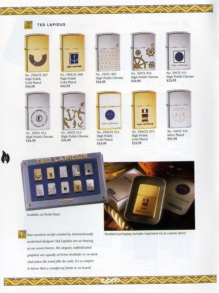 Catalogue ZIPPO Collection 1997 (version américaine) 2211