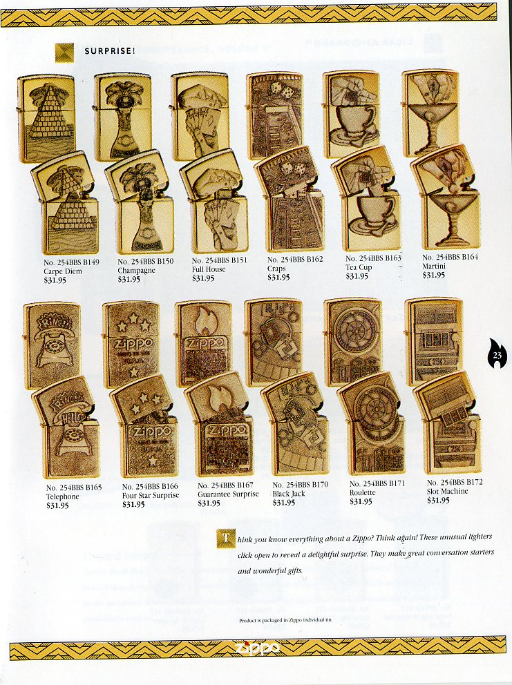 Catalogue ZIPPO Collection 1997 (version américaine) 2311