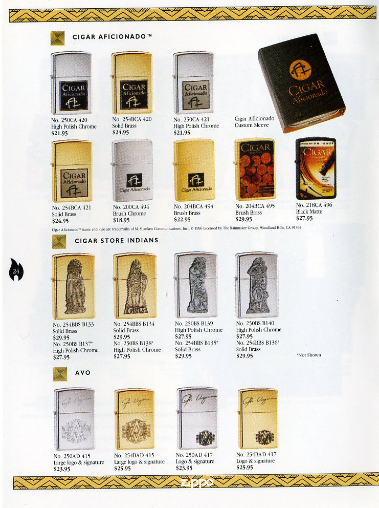 Catalogue ZIPPO Collection 1997 (version américaine) 2411