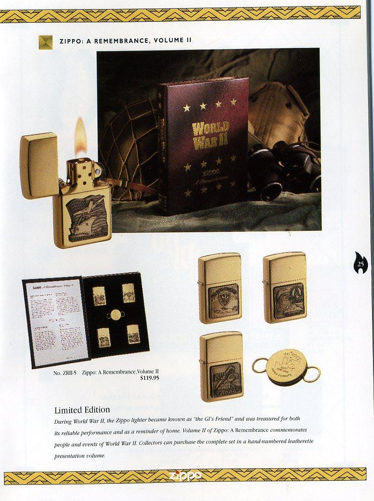 Catalogue ZIPPO Collection 1997 (version américaine) 2511