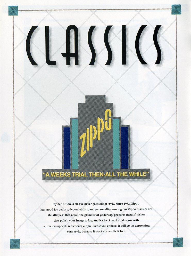 Catalogue ZIPPO Collection 1997 (version américaine) 2611
